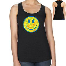 Smiley Peace Ladies Racerback Smiley Peace Face Racer Tank  - 1002C