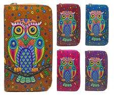 Fashion New Ladies Faux Leather Owl Zip Long Coin Purse Womens Wallet Card Holde