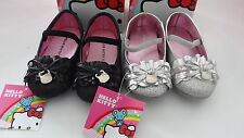 NWB Girls Hello Kitty Lil' Carla Sparkle Design Bow Shoe with Kitty Charm