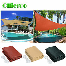 Ollieroo Hot Sun Shade Sail UV Top Outdoor Canopy Patio Lawn 12' 16.5' Triangle