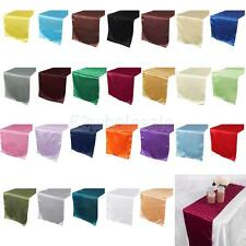 30*275cm Satin Table Cloth Plain Table Runner Cloth Home Wedding Party Decors