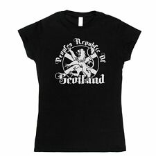 Women's Fitted Republic of Scotland T-shirt Graphic Design Tee