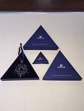 2007 Swarovski Crystal Christmas Star Snowflake Ornament Mint Condition w/ BOX