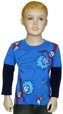 NWT Dr.Seuss Infant Boys Thing One & Thing Two Long Sleeve Layered Tee:12-24 mo