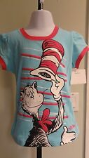"New Dr. Seuss Infant/Toddler ""Cat In The Hat"" Blue Tee: Sizes 18mos - 5T"