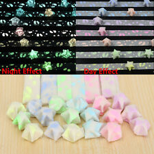 Fluorescence Pearl Shiny Lucky Star Folding Origami Paper Folding Craft Stripes