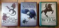 The Red Knight Miles Cameron Books 1-3 Dbl Signed Ltd No'd 32 Line Doodle 1st HB
