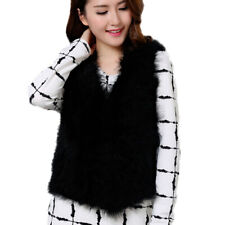 Fashion Free shipping/real ostrich feather fur vest/jacket/S-M-L-XL black