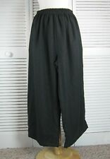 Flax Linen Floods Crop Pants in 10 Colors - S M L XL  by Blue Fish Red Moon