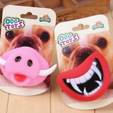 Hot Funny Pet Dog Teeth Vinyl Toy Puppy Chew Sound Novelty Dogs Play Toys