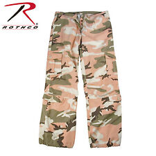 3996 Rothco Womens Camo Vintage Paratrooper Fatigue Pants - Subdued Pink Camo