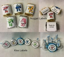 SUPER WINGS BIRTHDAY PARTY HERSHEY'S KISS CANDY LABELS OR HERSHEY'S NUGGET LABEL