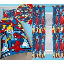 "SPIDERMAN WEBHEAD ROTARY SINGLE DUVET & CURTAINS AVAILABLE IN 54"" & 72"" DROP NEW"