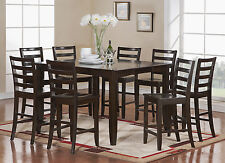 FAIRWINDS DINETTE COUNTER HEIGHT TABLE DINING SET IN CAPPUCCINO