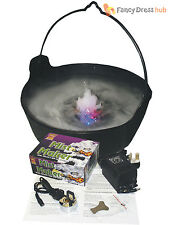 Halloween Fog Mist Maker with LED Lights Party Prop Decoration Smoke Ice Witch