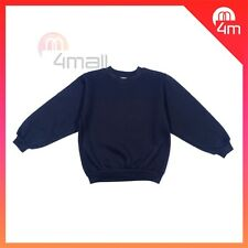 Boys Girls Kids Fleecy Fleece School Wear Uniform Jumper Sz Sweatshirt Navy Blue