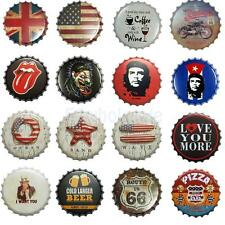 Various Bottle Cap Iron Metal Sheet Sign Plaque Vintage Bar Pub Man Cave Decor