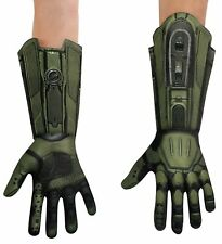 HALO Master Chief Gloves Adult Chid Green Soldier Army Video Game Halloween