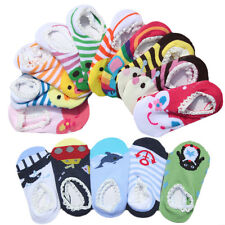1 Pair Cute Cartoon Unisex Baby Toddler Girl Boy Anti-Slip Socks Shoes Slipper