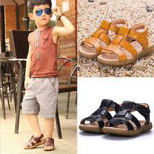 Kids Baby Boys&Girls Soft Leather Sandals Summer Prewalker Casual Beach Shoes