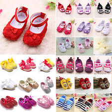 0-18 Months Toddler Baby Kids Soft Sole Prewalkers Crib Shoes Trainers Sneakers