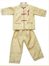 Chinese Boy's Dragon Shirt Pants Suit Yellow 2 4 6 8 10 12 14 16