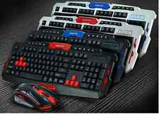 Multiple Color 2.4GHz Wireless Gaming Keyboard & Mouse Set for PC Laptop Mac