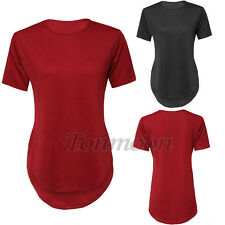 Plus Size Womens Top Short Sleeve T-Shirt Blouse Summer Casual Loose Top 8-16
