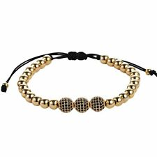 Mens Macrame Adjustable Bracelet Braided Balls Charm Beads - Choose Color Gifts