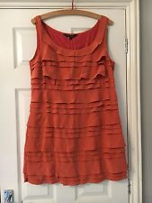 French Connection Ruffle Shift Dress BNWT Size 14