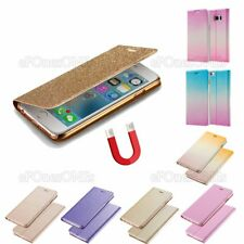 Thin Magnet ombre Leather Rose stand wallet case cover for Apple iPhone 5 5c 6 s