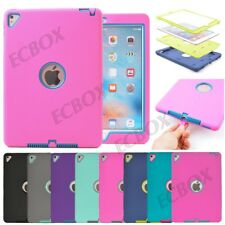 Hybrid Kids Heavy Duty Shockproof Soft Silicone Tough Combo Case Cover For iPad