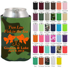 Personalized custom can koozies wedding favor Coolies quick turnaround (1149)