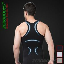 MENS SLIMMING BODY SLIM SHAPER UNDERWEAR QUICK DRY I-SHAPED SINGLET VEST/SHIRT