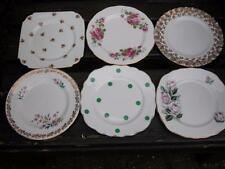 VINTAGE PRETTY FLORAL & DOTTY WEDDING TEA PARTY 6 CHINA PLATES TEAROOM