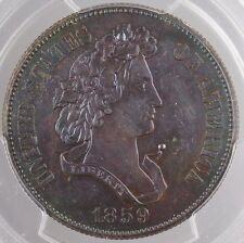 1859 Proof Copper Half Dollar 50c Pattern Coin J-240 PCGS Genuine Toned WW
