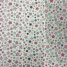 """Lifestyle Twinkle Stars 100% Cotton Fabric for Cushions, Upholstery 54"""" Width"""