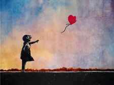 Stretched Balloon Girl Canvas Print by Banksy Graffiti Street Art *Assorted*