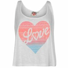 Lee Cooper Ladies Womens Glitter Swing Vest Light Weight Cami Sleeveless Top