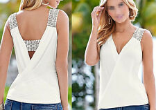 Sleeveless Top Fashion  Vest T-Shirt Blouse Blouse Casual Summer Women Tank Tops