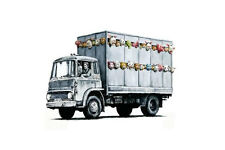 Stretched Meat Truck Canvas Print by Banksy Graffiti Street Art Wall *Assorted*