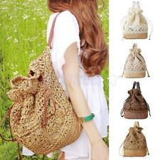 Women Casual Girl School Bag Rucksack Travel Shoulder Weave Beach Straw Backpack