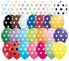 "10 pc 11"" Polka Dot Latex Balloon Happy Birthday Baby Shower Wedding Bridal Spot"