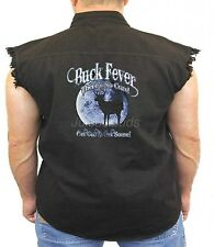 Deer Hunting Denim Vest Buck Fever Theres No Cure Get Out And Get Some Biker
