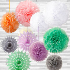 Pom Pom Hanging Wedding Decorations Fan Paper Birthday Party Decoration Gift