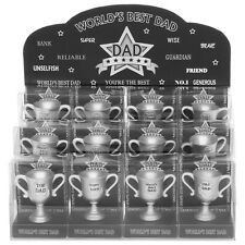 worlds best dad trophy novelty gift present TOP DAD SUPER NO 1 daddy father