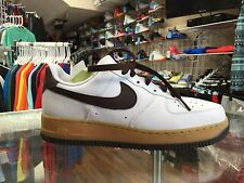 BLOWOUT ***** AUTH NIKE AIR FORCE 1 07 AF1 BROWN WHITE SHOES / SNEAKERS SIZE 8
