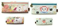 Jetoy Cute Kawaii Cat Pencil CosmeticTravel Slim Bag Pouch-Pink Rose & Friends
