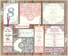 * BAROQUE decorative pattern SAMPLE Wedding Stationery Invitation Invite Stylish