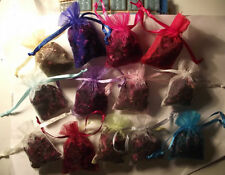 Dried Rose Delphinium Wildflower Petals Biodegradable Confetti in Organza Bags